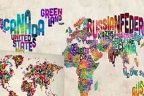 Maps International - Art Maps on Medium Canvas - Save 79%