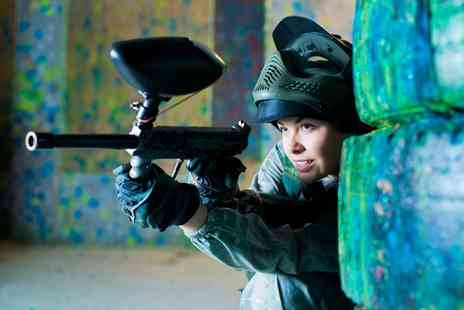 Skirmish Paintball - Paintballing For Up to 5, 10 or 15 with 100 Paintballs and Portion Of Chips - Save 0%