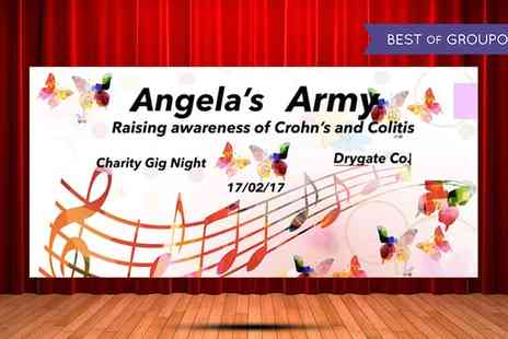 DigitalFiz - One ticket to see Angelas Army Charity Gig on Friday 17 February - Save 40%