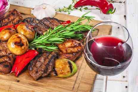 El Greco Eatery - Barbecue Mixed Grill Platter with a Glass of Wine for Up to Four - Save 46%
