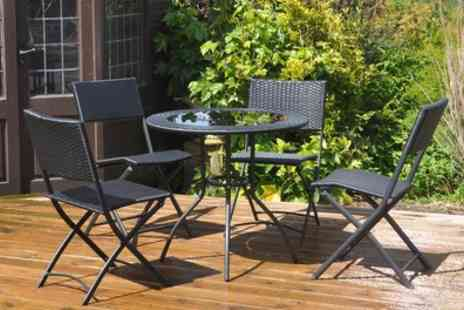 Groupon Goods Global GmbH - Rattan Effect Five Piece Garden Patio Set With Free Delivery- Save 57%