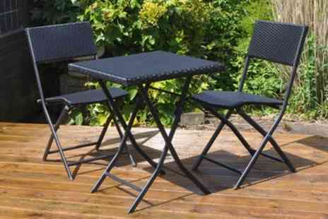 Groupon Goods Global GmbH - Rattan Effect Bistro Set With Free Delivery - Save 47%