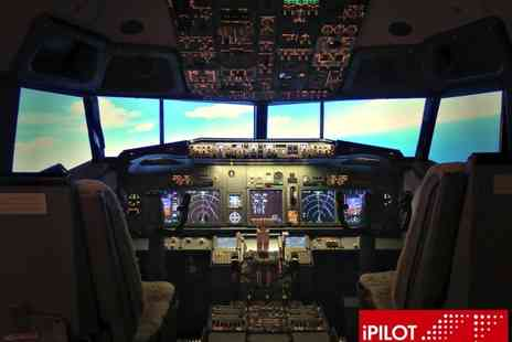iPILOT - 20 or 30 minute Boeing 737 flight simulation experience or a 60 minute shared flight - Save 53%
