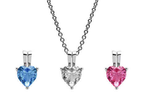 Lily Spencer - Heart Pendant Necklace with Crystals From Swarovski - Save 80%