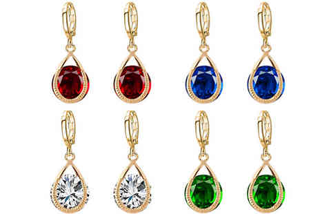 Trendy Banana - 18K Gold Plated Margot Swarovski Elements Earrings Four Colours - Save 83%