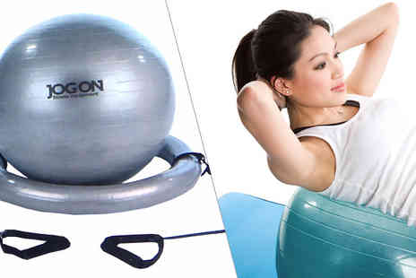 Internet Shop - Exercise Gym Ball with Resistance Bands - Save 80%