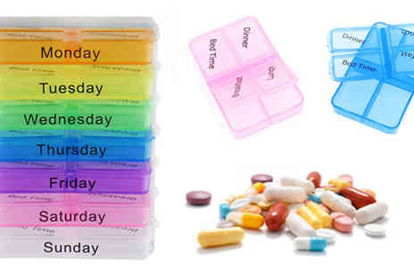 Shop Monk - Daily Coloured Pill Box - Save 0%