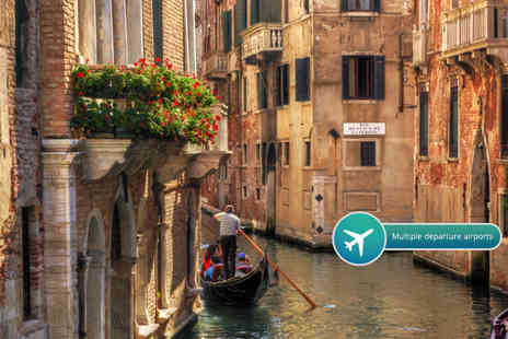 Weekender Breaks - Two or three night 4 Star Venice break including flights and a bottle of wine - Save 52%