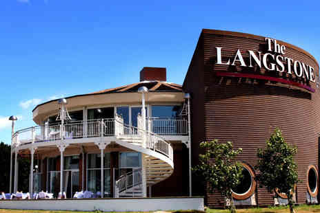 The Langstone Hotel - Overnight stay for two with gourmet dinner, breakfast and leisure access - Save 46%