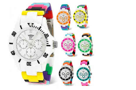 Fakurma - NY London unisex silicone watch choose from five colours - Save 67%