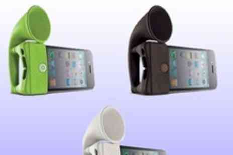 Gifts4u - Amplified iphone horn speaker for extra volume on your calls, music and even video calls - Save 80%