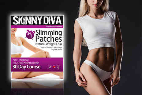 Skinny Diva - 30 day supply of slimming body patches - Save 79%