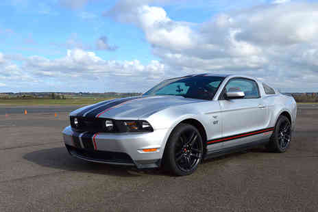 Supercar Test Drives - Weekday or weekend three lap Ford Mustang driving experience - Save 74%