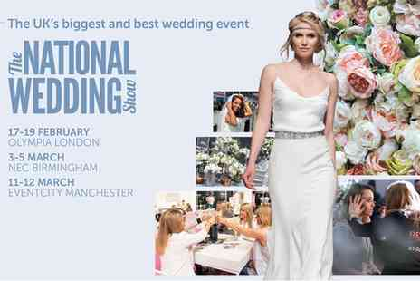 National Wedding Show - One ticket to National Wedding Show on 17 To 19 February - Save 31%