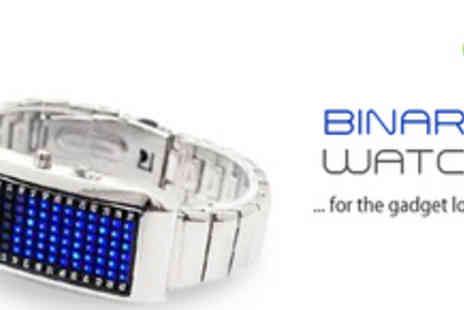 Smartass - Silver Binary Watch for the Gadget Lover - Save 73%