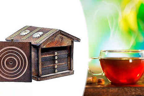 Barrots - Traditional Handmade Hut Tea Set with Six Coasters - Save 0%