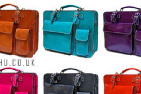 A SHU.co.uk - Genuine leather double satchel bag in a choice of colours - Save 50%