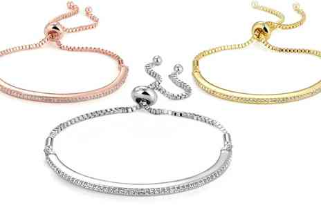 Groupon Goods Global GmbH - Friendship Bracelet with Crystals from Swarovski - Save 78%