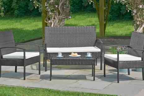 Groupon Goods Global GmbH - Rattan Effect Furniture Set in Choice of Colour With Free Delivery - Save 50%