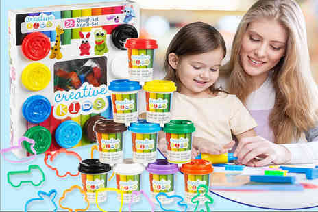 Partikle - Creative kids 22 piece play dough set - Save 77%