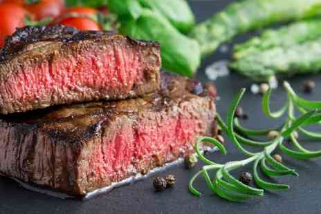 24 Bar & Grill - Flat iron steak meal with a sauce, side dish and glass of Prosecco each for two - Save 50%