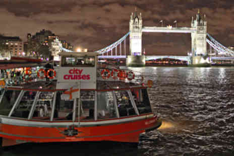 City Cruises - Thames Jazz Dinner Cruise for Two - Save 25%