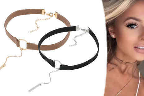 Elle and Be - Choker Set  Black & Taupe - Save 75%