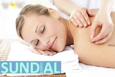 Sundial Clinics - Initial Chiropractic Consultation, Two Chiropractic Treatments and One Acupuncture Treatment for £33 - Save 73%