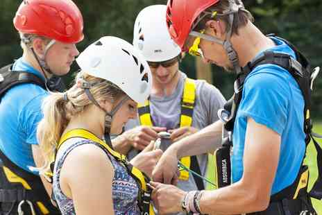 Vertigo Adventures - High Ropes Course Entry for Up to Four - Save 40%