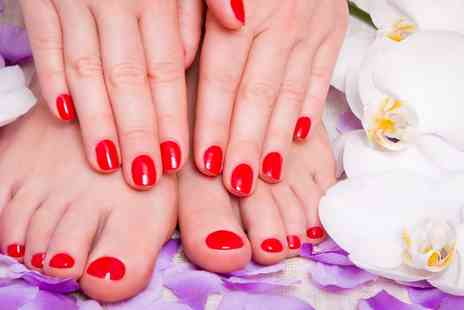 Love Nails Thai Spa & Beauty - Shellac Manicure or Pedicure or Both - Save 52%