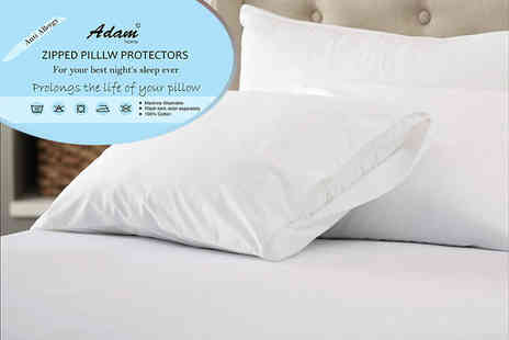 Adam Linens - Two anti allergy pillow protectors or four protectors - Save 80%