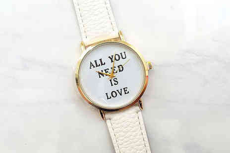 Solo Act Ltd - All You Need Is Love ladies watch - Save 82%