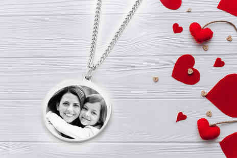British Gem - Stainless steel photo pendant - Save 80%