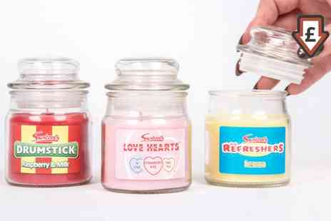 Groupon Goods Global GmbH - 3 or 12 Swizzels Sweet Shop Classic Candy Fragrances Candle Jars - Save 79%