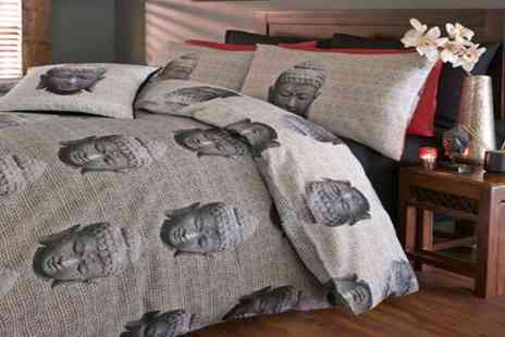 Groupon Goods Global GmbH - Single, Double or King Buddha Duvet Set - Save 71%