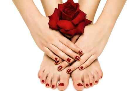 AguaVida Hair & Beauty - Gel Manicure, Pedicure or Both - Save 40%