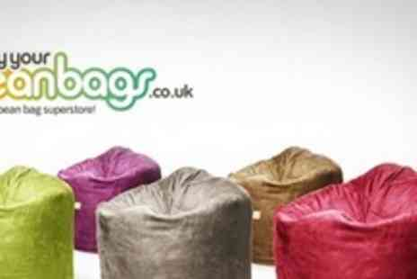 BuyYourBeanBags.co.uk - Two Teardrop Beanbags in a choice of 12 colours - Save 65%