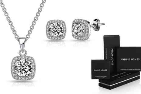 Groupon Goods Global GmbH - Square Halo Set with Crystals from Swarovski - Save 73%