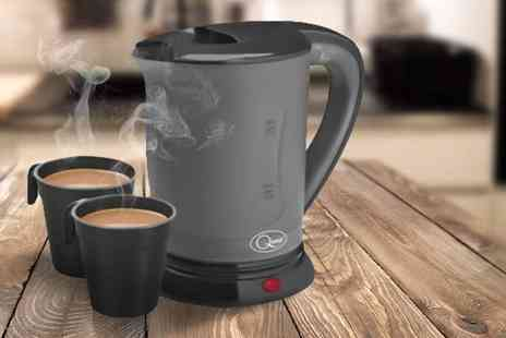 Sashtime - Travel kettle with two mugs - Save 48%