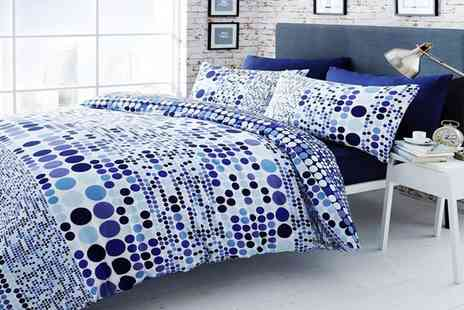 Groupon Goods Global GmbH - Blue Circle Duvet Set - Save 71%