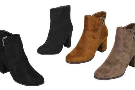 Groupon Goods Global GmbH - Womens High Heeled Ankle Boots - Save 0%