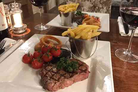 The Riverside Inn - Steak Meal with a Bottle of Wine for Two or Four - Save 48%