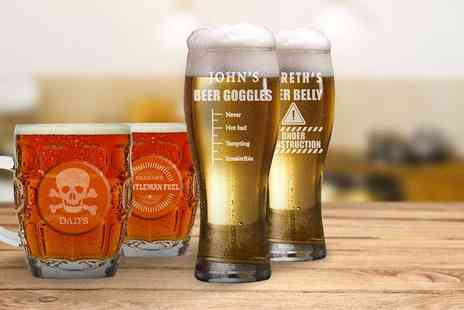 The Gift Mill - Personalised beer glass - Save 54%