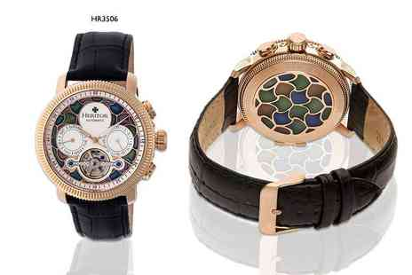 Idealdeal - An automatic Heritor Aura watch choose from three styles - Save 86%