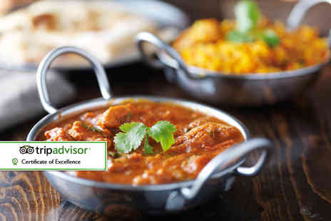 Dera Restaurant - Two course Indian dining for two people with a garlic naan - Save 56%