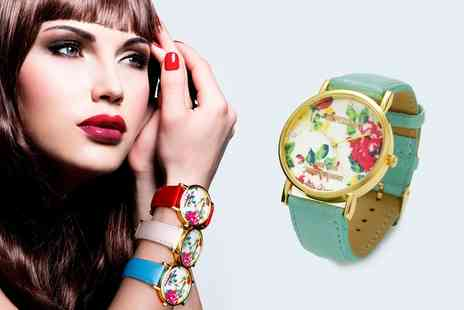 Groupon Goods Global GmbH - Flowers Watch Made with Crystals from Swarovski - Save 80%