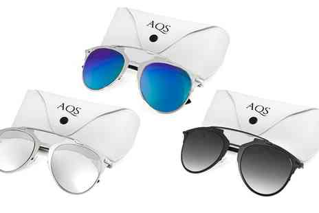 aqs - AQS Unisex Alfie Arched Brow Bar Sunglasses With Free Delivery - Save 90%