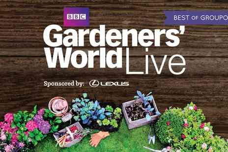 Gardeners World Live - One, two, three or four afternoon tickets to BBC Gardeners on World Live on 15 To 18 June 2017 - Save 0%