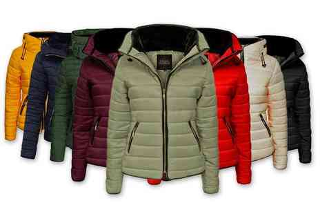 Love My Fashions - Womens fur collar padded quilted jacket choose from seven colours - Save 67%