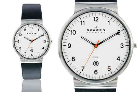 Idealdeal - Stylish Skagen mens watch choose from three styles - Save 30%